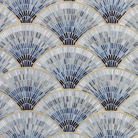FAN CLUB BLUE OMBRE WITH BRASS