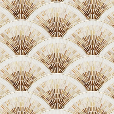 FAN CLUB CREAM OMBRE WITH BRASS