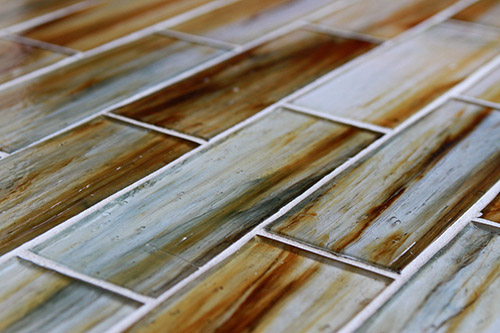 Tozen Glass Tile 2x6 Brick In Indium Natural