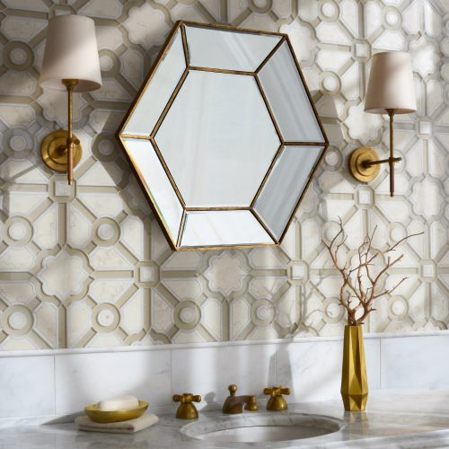New Ravenna Parterre Jardin Bathroom Backsplash