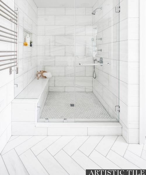 Bianco Carrara bathroom2