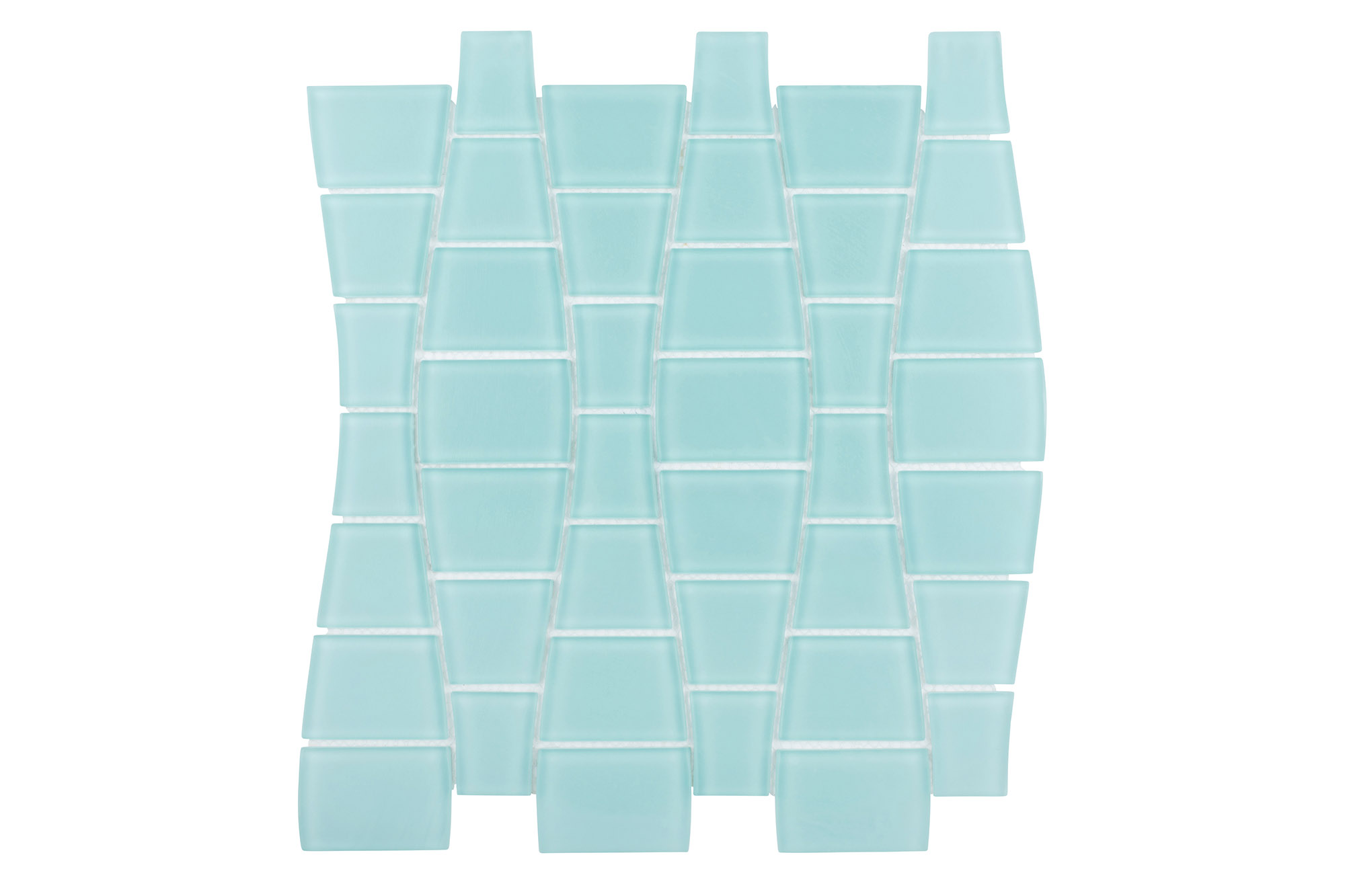 Island Stone Glass Mosaic Ripple in Spring Matte
