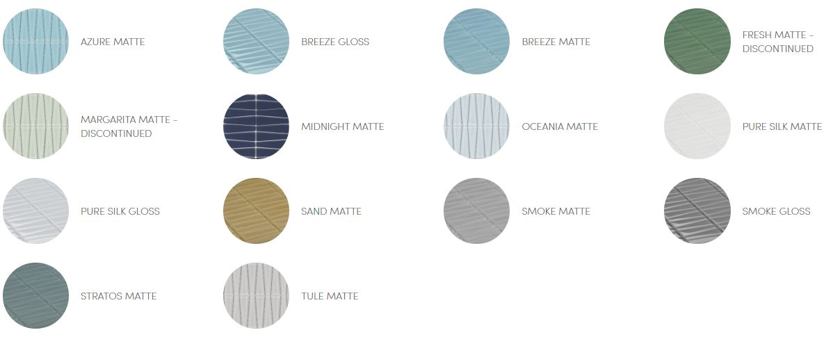 Island Stone Glass Mosiac Waveline Mini Color Palette