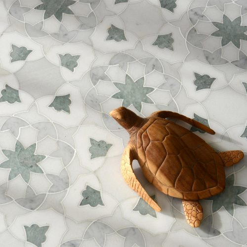 New Ravenna Miraflores Alcala Floor with Wooden Turtle Figure