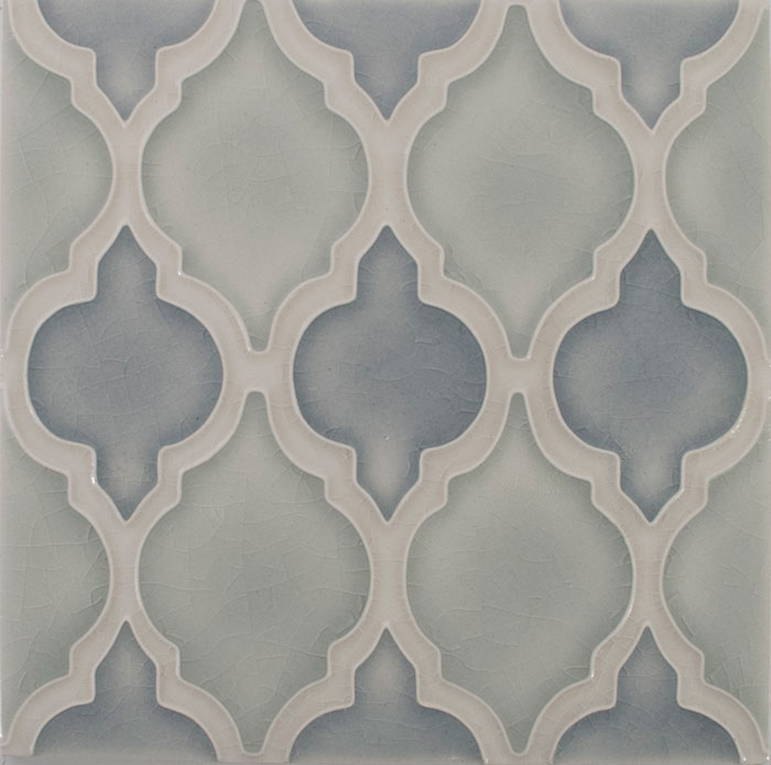 Pratt and Larson Tile Motif A winter cloud frost