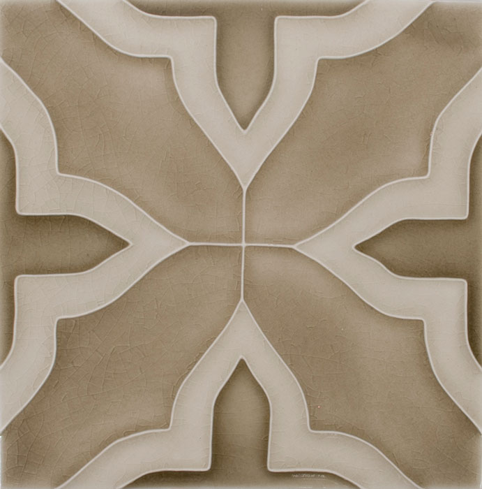 Pratt and Larson Tile Motif F clay dove sage