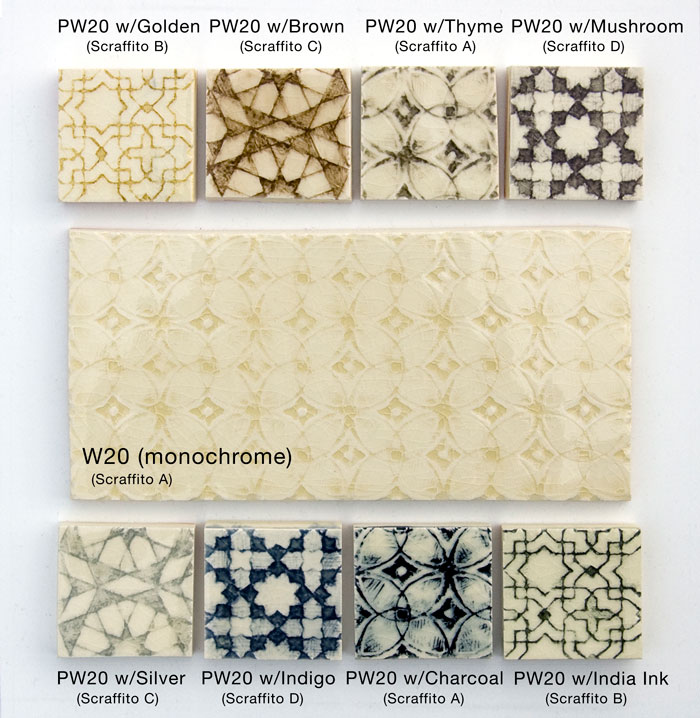 Pratt and Larson Tile PW20 Palette