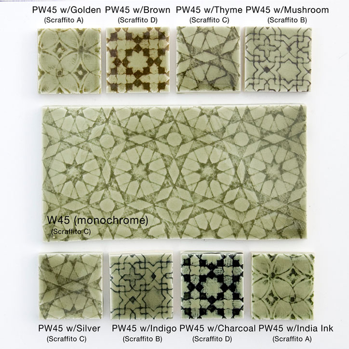 Pratt and Larson Tile PW45 Palette