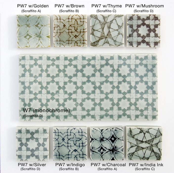 Pratt and Larson Tile PW7 Palette