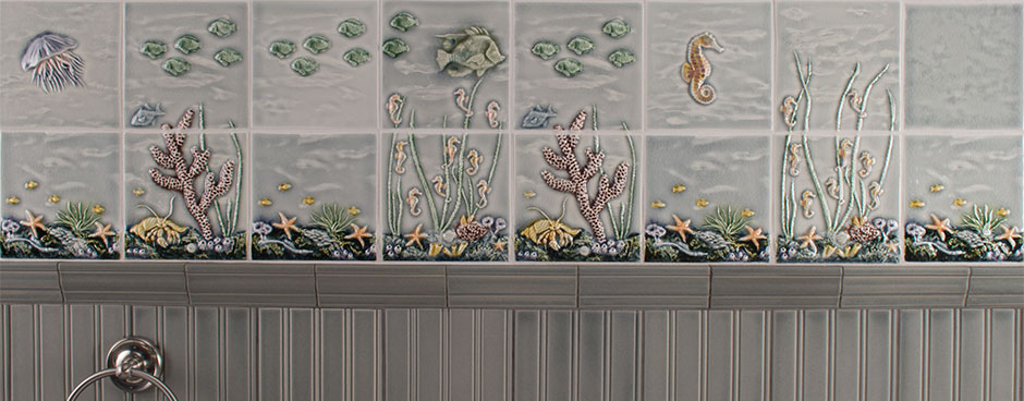 Pratt and Larson Tile Sealife banner