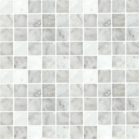 Bianco Carrara Straight Joint Mosaic