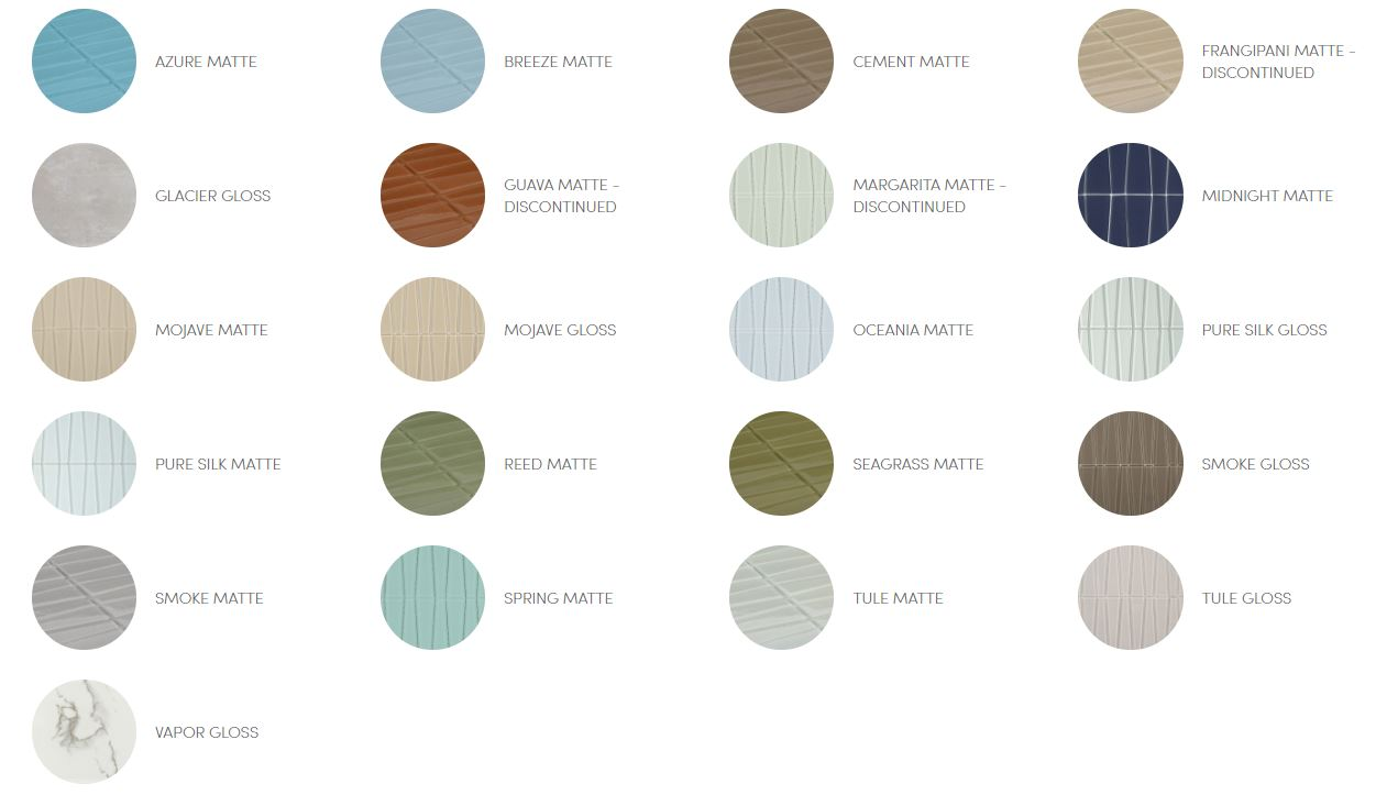 Island Stone Mosaic Glass Waveline Color Palette