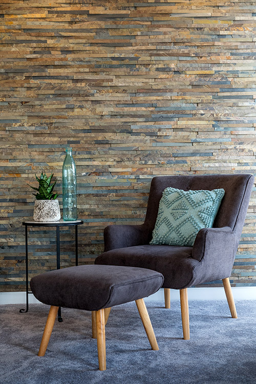 Island Stone Dimensional Living Room Feature Wall