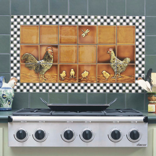 deco relief animals hen kitchen