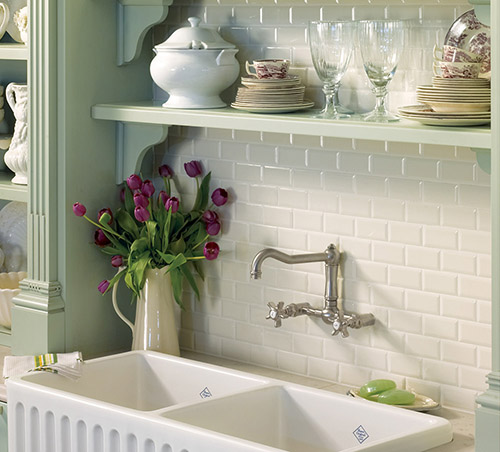 Neri White Sink Backsplash Kitchen