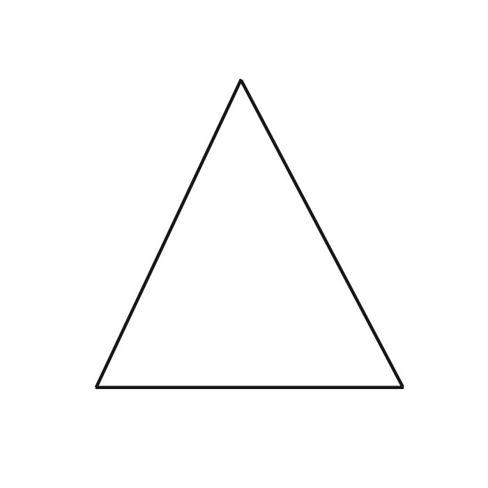 4″ Equilateral Triangle