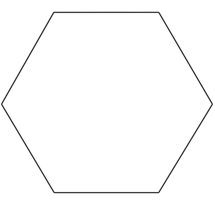 8″ Hexagon